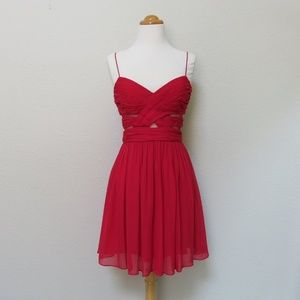 Red Cocktail Dress - Adriana Papell - Like New 7/8
